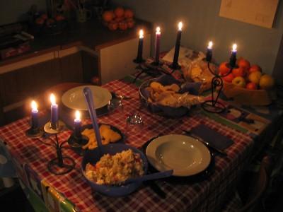 Gas e luce pi cari da oggi a cena a lume di candela - Cosa cucino oggi a cena ...