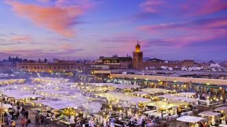 Food stalls and shopping at Djemaa el-Fna Square