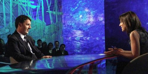 Matteo Renzi ospite di Daria Bignardi nel programma 'Le invasioni barbariche' in onda su La 7, Roma, 23 gennaio 2013. ANSA/MATTEO DI NUNZIO/UFFICIO STAMPA +++ NO SALES, EDITORIAL USE ONLY +++