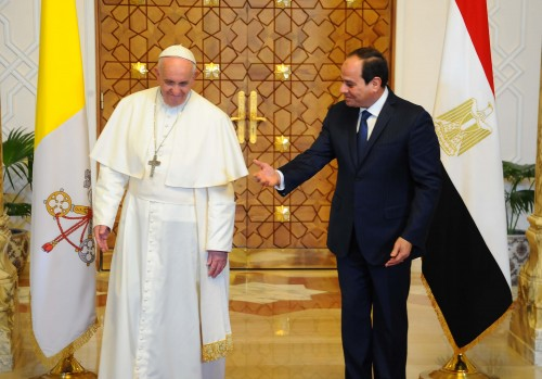 pope francis and president el  sisi