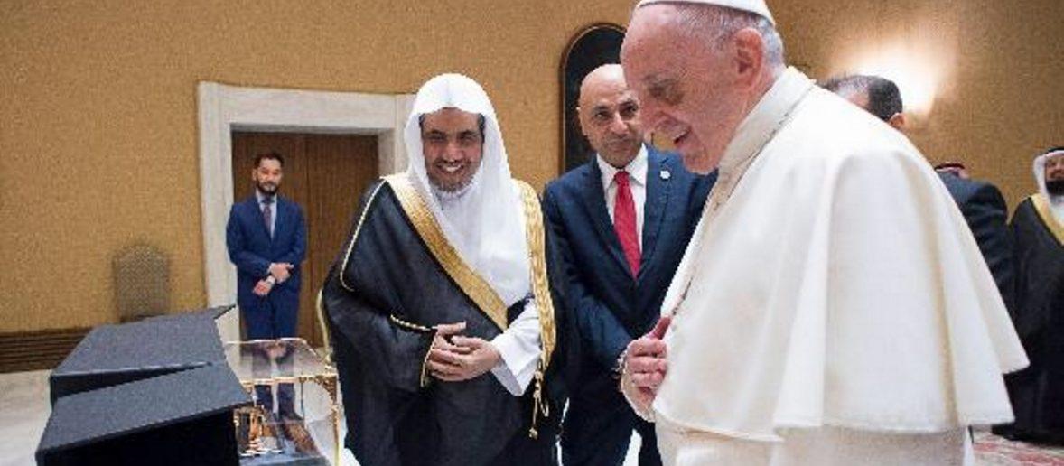 """""""LA TOLLERANZA NELL'ISLAM"""". LA LEZIONE DI AL ISSA E L'INCONTRO CON  IL PAPA"""